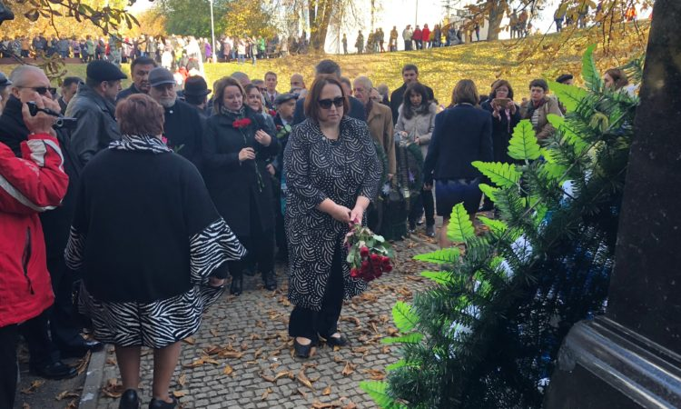 Charge d'affaires Jenifer Moore participated in a commemoration, related to the 75th anniversary of the destruction of the Minsk ghetto