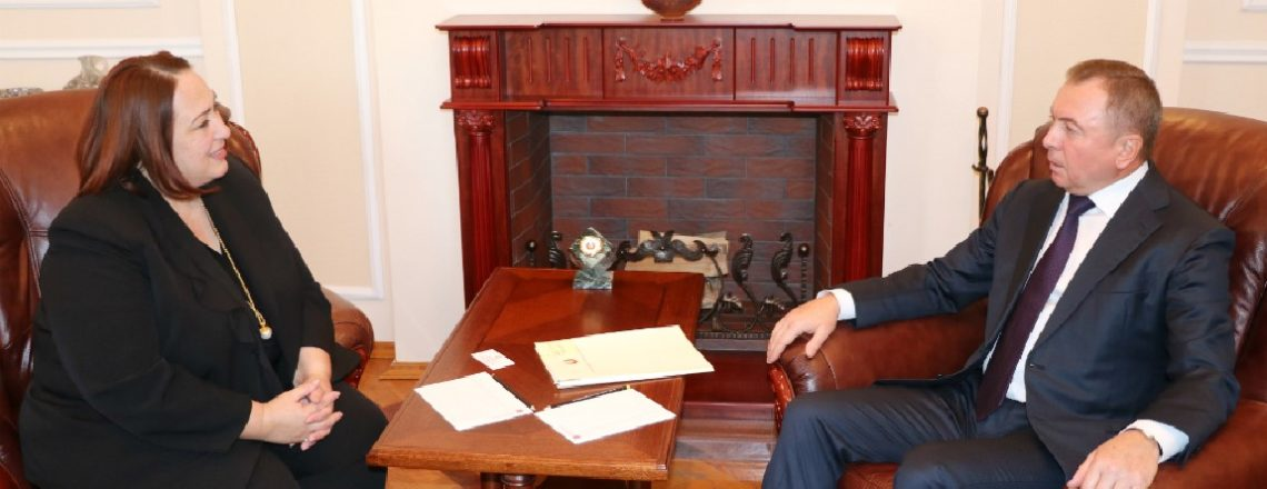 Chargé d'affaires Jenifer Moore meets with Foreign Minister Vladimir Makei